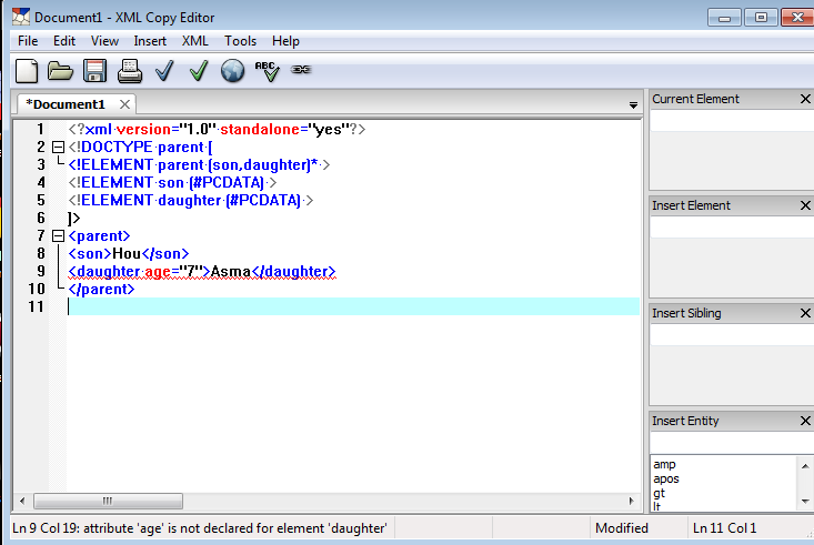 validating xml xsd This tutorial is for students of integrative internet technologies and shows you how to validate an xml file against an xsd file using the freeformattercom.